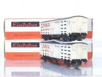 SCARCE ELECTROTREN 5101 HO GAUGE - SPANISH FO.RE.VA. LIVERY BOGIE CATTLE WAGONS