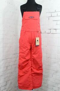 Burton Skylar Bib Snowboard Pants, Youth/Kids Medium (10-12), Hibiscus Pink New