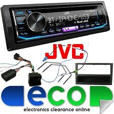 VAUXHALL ASTRA H BLUETOOTH JVC CD MP3 USB Car Radio & SWC Grey Facia Fitting Kit