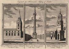 WREN CITY CHURCHES St Benet Gracechurch. The Monument. St Magnus the Martyr 1776