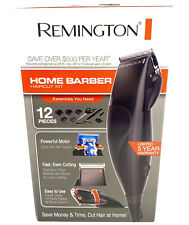 Remington Home Barber Haircut Kit 12 Pieces Hair Clippers Hair Cut Styling Kit