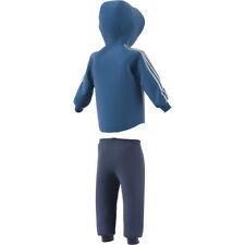 adidas 3 Stripes Full Zip Fleece Jogger Babies' Tracksuit Blue 18-21 Months