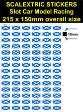 Slot Car Scalextric, Escocia Bandera Pegatina, Calcomanía Adhesivo Vinilo Modelo RaceTrac