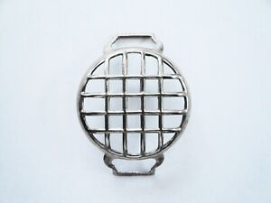 """Antique LARGE Sized WWI Trench Watch Shrapnel Guard, Known as the """"Mesh Guard"""""""
