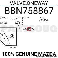 BBN758867 Genuine Mazda VALVE,ONEWAY BBN7-58-867