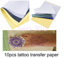 Tattoo Transfer Carbon Paper Supply Tracing Copy Body Art Stencil A4 50 Sheets