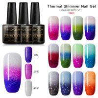 T-TIAO CLUB Glitter Thermal UV Gel Nail Polish Soak Off Color Change Varnish DIY