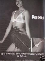 PUBLICITÉ BARBARA SOUTIEN-GORGE FADIESE MIDIESE