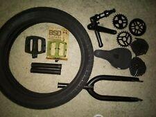 BSD XL cranks, BSD forks, BMX lot.