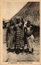 PC ETHNIC NUDE FEMALE NATIVE TYPE GIRLS SENEGAL AFRICA Vintage Postcard (b588)