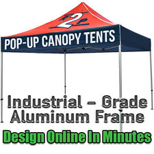 10x10 Custom Printed Ez Up Style Pop Up Tent w/ Bag & FREE Shipping