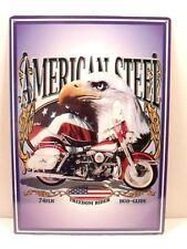 Harley Motorcycle Sign American Steel 74FLH Duo Glide Metal New 11 3/4x16 1/2in