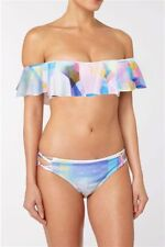 BNWT NEXT PASTEL COLOUR BARDOT FRILL STRAPPY SOFT CUP  BIKINI SET SIZE 16
