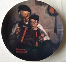 "Knowes-Norman Rockwell Plate,1981,""The Music Maker"" Rockwell Heritage Collection"