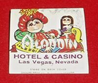 Vintage Las Vegas  Aladdin Hotel Matchbook