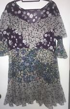 ASOS Floral Ruffle Dress Size 14
