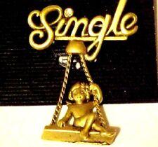 Pin Brooch Girl on a Swing Single Life