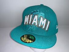 New Era NFL Miami Dolphins 59Fifty Hat Cap Teal Turquoise 7 1/2 59.6cm VGC