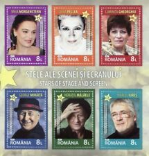 Romanian Sheet Famous People Postal Stamps