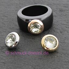 Melano - Magnetic Aufsatz für Ring - 10 mm - Citrin - Edelstahl