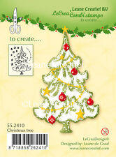 Leane Creatief- Clear Cling Rubber COMBI Stamp CHRISTMAS TREE 55.2410