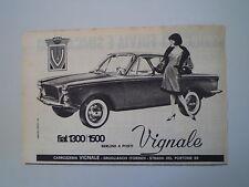 advertising Pubblicità 1963 FIAT 1300/1500  VIGNALE