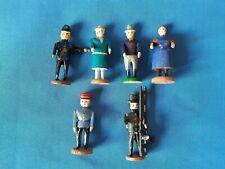 6 Stück Antike  uralte Erzgebirge Holz Figuren