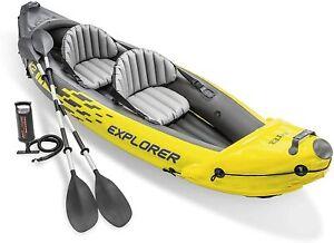 Intex Explorer K2 2 Person Inflatable Kayak + Pump & Oars 🚚 1 Day Postage* 🚚