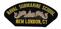 USN NAVY NAVAL SUBMARINE SCHOOL NEW LONDON CT PATCH DOLPHINS VETERAN