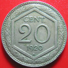 1920 ITALY 20 CENTESIMI SCARCE DATE! RARE! COLLECTABLE WORLD COIN (no silver)