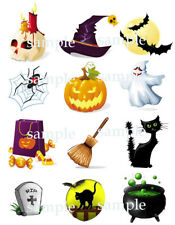Assorted HALLOWEEN Edible Photo CUPCAKE Toppers Icing Image Frosting Circles