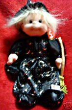 "Collectible Ty Beanie Kid Doll ""Angel"" w/ Dress & Witch Costume! Mwmt!"