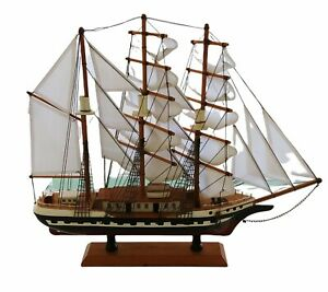 Heritage Mint HANDCRAFTED WOODEN Belem Model Ship W/ Stand  20H x 17.5