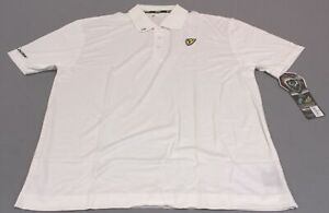 ScentBlocker Men's S3 Team Scent Tour S/S Golf Polo Shirt CB4 White Large NWT