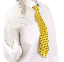 Krawatte Pailletten Glitzer Krawatte Party Fasching Pailletten Krawatte Gelb