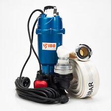 Schmutzwasserpumpe Tauchpumpe mit Schwimmer IBO1500W/1,5KW +20m Schlauch