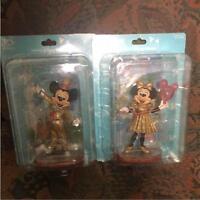Mickey Minnie Figure Figurine Doll Card Pair Set Tokyo Disney 30 th Anniversary