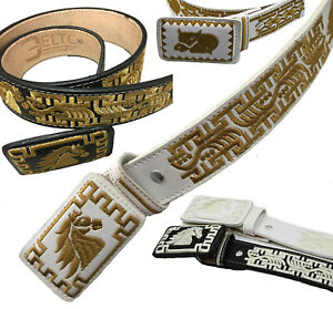AUTHENTIC MEXICAN WESTERN cinto charro piteado Hand-braided BIG Sizes BELTS