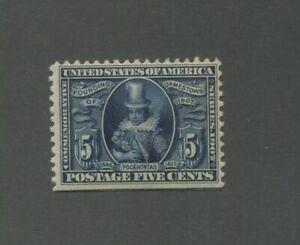 United States Postage Stamp #330 Mint Lightly Hinged VF OG