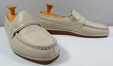 Idlers By Florsheim Cream White Vintage Men's Shoes Size 11.5 M Slip On Loafers