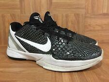 RARE🔥 Nike Zoom Kobe VI TB Black Anthracite Metallic Silver Sz 11 454142-011