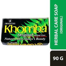 Swadeshi Khomba Herbal Beauty Body Soap-Care Natural soap 5X90g Pack Margosa Oil