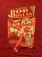 BOB DYLAN AND HIS BAND MODERN TIMES T-SHIRT COLOR MAROON SIZE XL COMBED COTTON