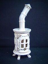Velas de té Horno Fumador Para Ahumar CERÁMICA 20cm Figura Humeante Blanco 40508