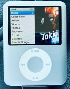 Apple iPod Nano 3rd Generation A1236 4Gb Silver Working Unknown Battery Life
