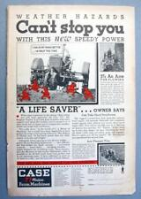 Original 1934 Case CC Tractor Ad WEATHER HAZARDS CANT STOP YOU WITH SPEEDY POWER
