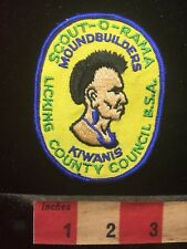Indian Theme BSA Scout Patch Moundbuilders Kiwanis  Licking County Council 70T1
