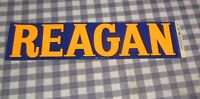 Vintage 1970's Governor Ronald Reagan Bumper Sticker,California,NOS,Peach/Blue