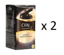 Olay Total Effects 7-in-1 Day Moisturizing Cream, SPF 15, 50 ml (2 Pack)