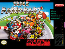 Official Super Mario Kart Nintendo SNES Cover Canvas Art Print